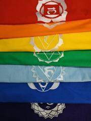 Футболки для йоги с вышивкой. 7 цветов. Ткань хлопок